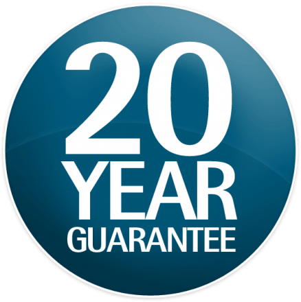 20 year NEVER PAINT AGAIN warranty