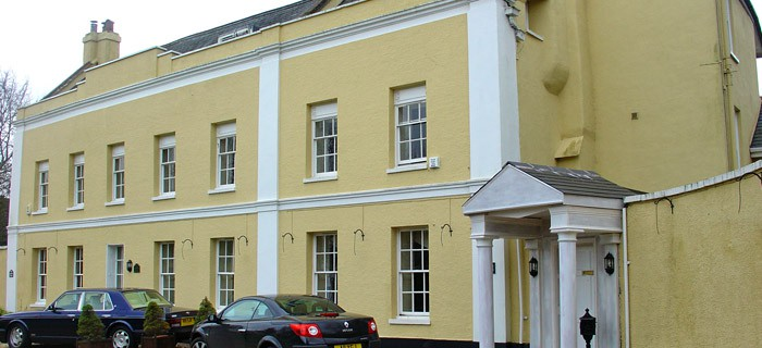 Rendered_mansion in exeter devon External wall coverings