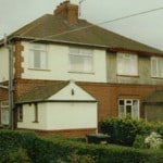 A house in stoke on trent with a wall coating