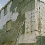 Applying cement wash for a wallcoating