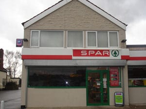 Spar shop painted exterior