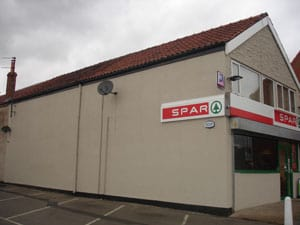 The side of the spar shop with new paint