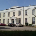 Mansion house painted with exterior wall coating
