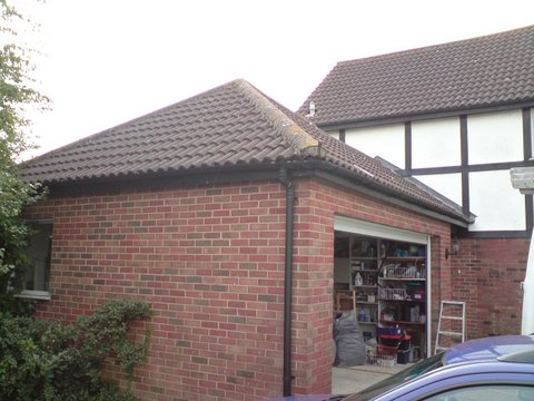 Rear of house in Bradford showing garage