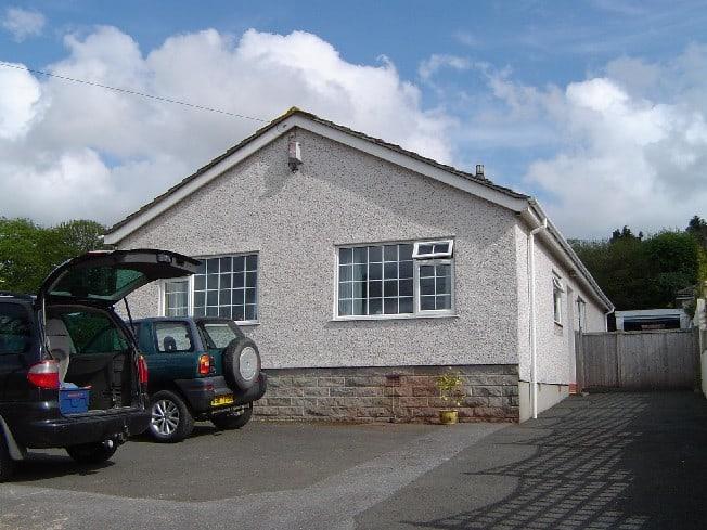 Pebbledash bungalow devon