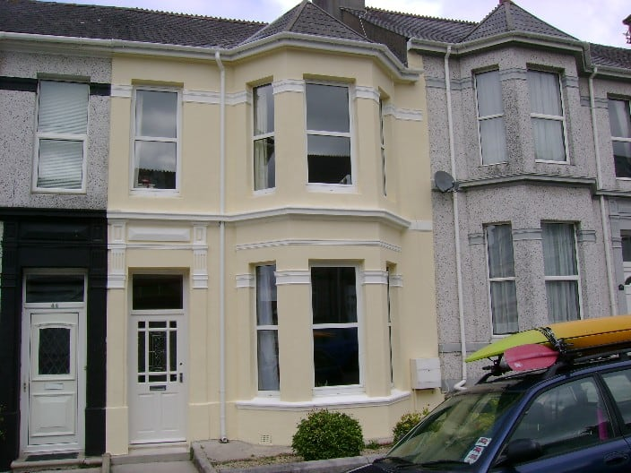 A victorian house in Peverell, Plymouth, Devon.