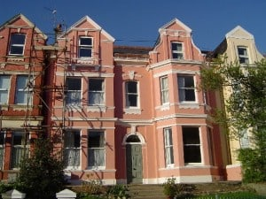 victorian terraced villa after wall coatings painting