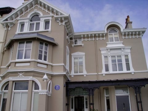 Protecting and painting the Titanic owners old house