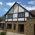 Modern house after wall coatings painting