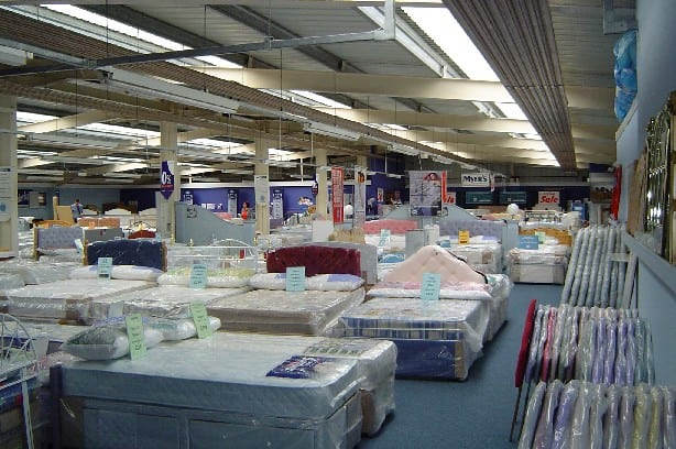 Bed showroom in Plymouth, Devon