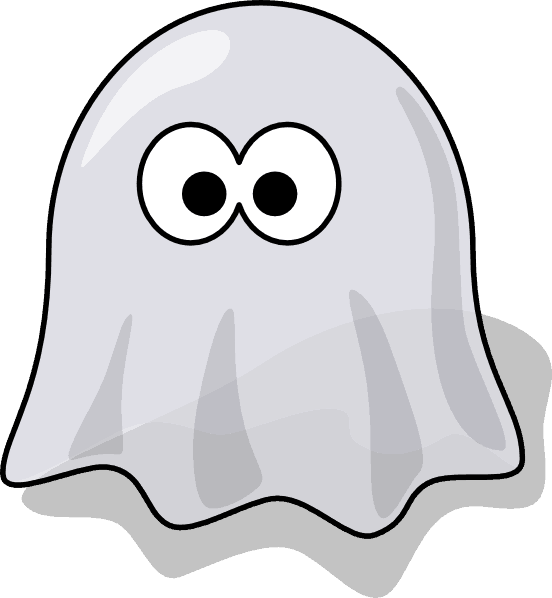 clip art image of a ghost