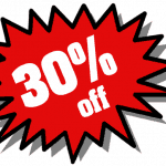 30 PERCENT OFF ALL WALL COATINGS PAINT JOBS