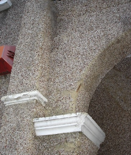 flaking pebbledash can be repaired with never paint again exterior wall coatings