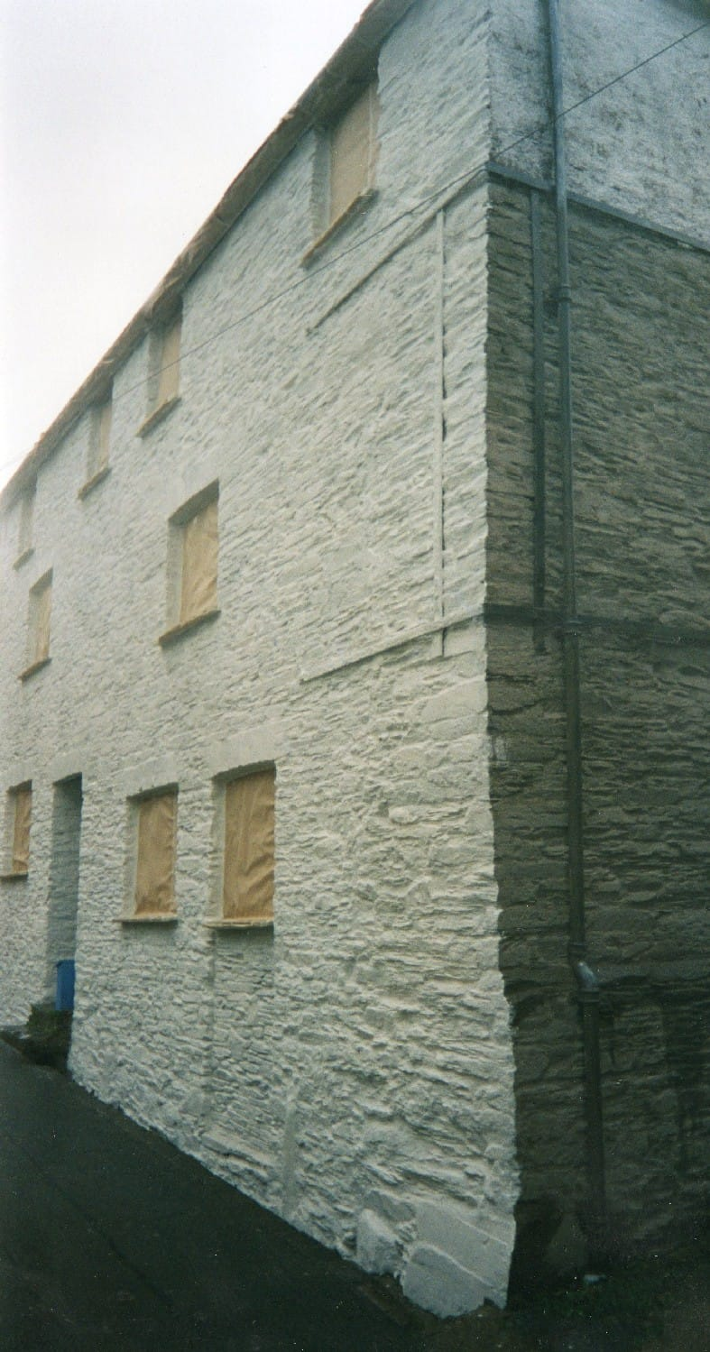 This shows the preparation needed before applying a wall coating