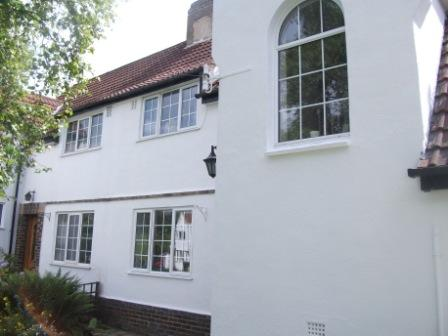 A white painted house using special weather-resistant coatings