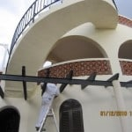 Painting a villa on the costa blanca