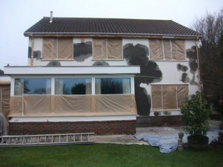 Render repairs on the house