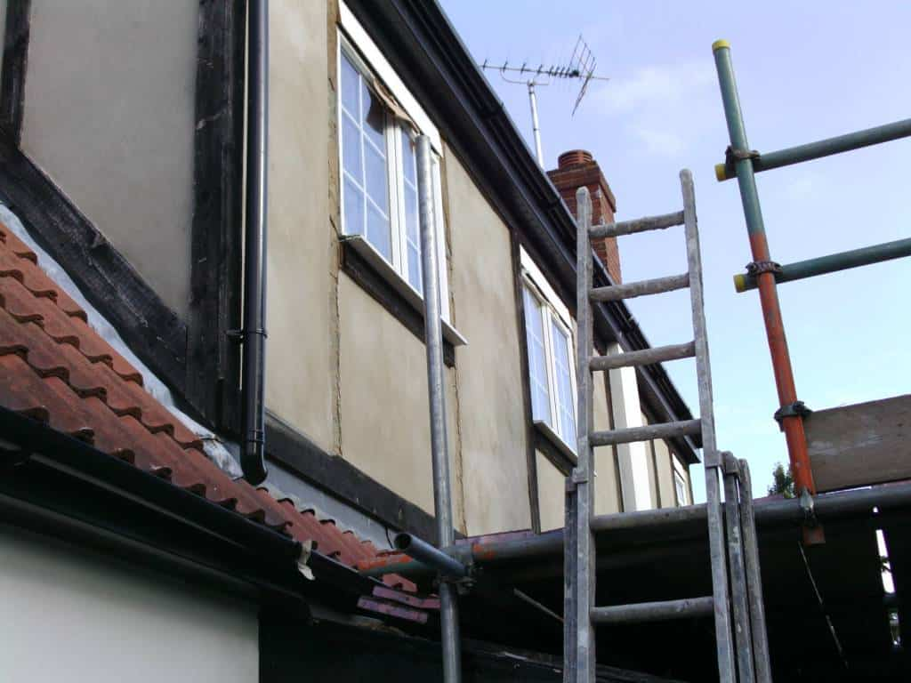 rendering on external wall Exterior wall insulation