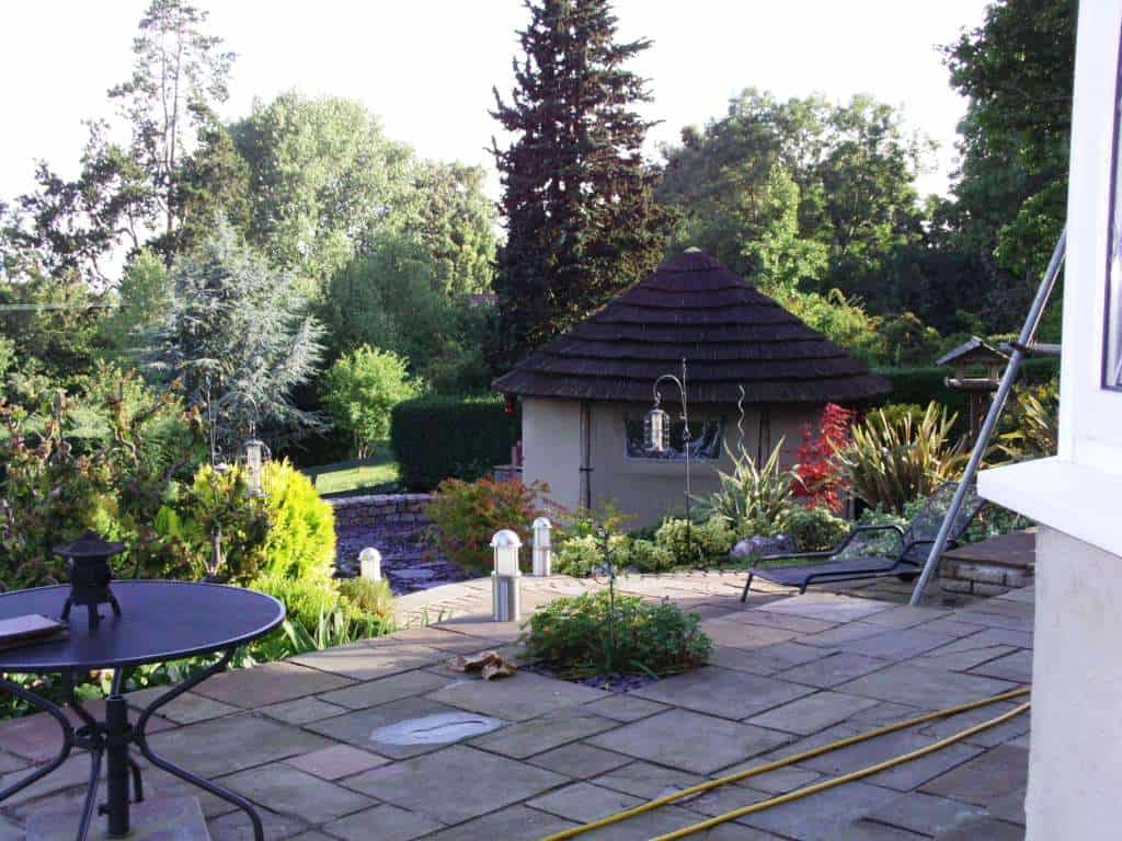 summer house we also did in their beautiful garden
