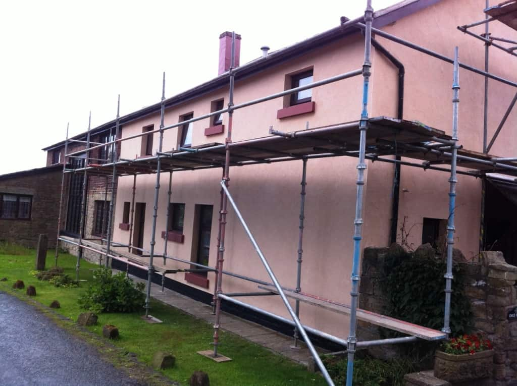 The finished job before they took the scaffold away