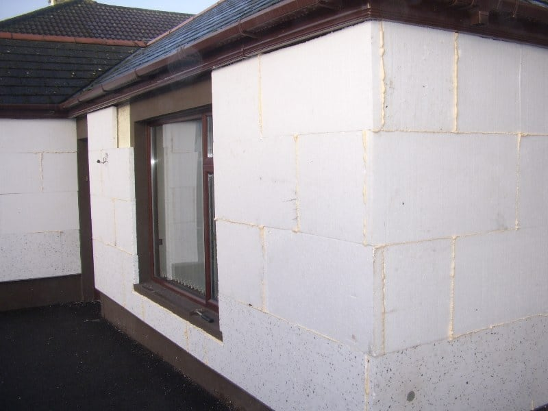 Thermal external solid wall Insulation fitted