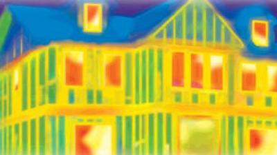 thermal camera scan house insulation