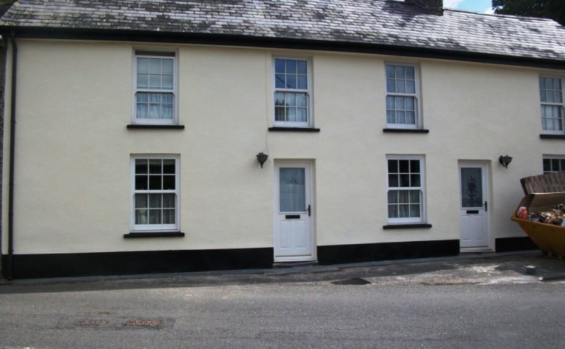 House in wales after wall coatings