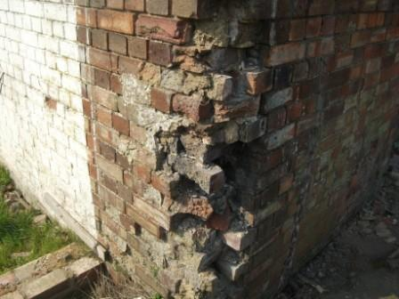 What happens when bricks erode