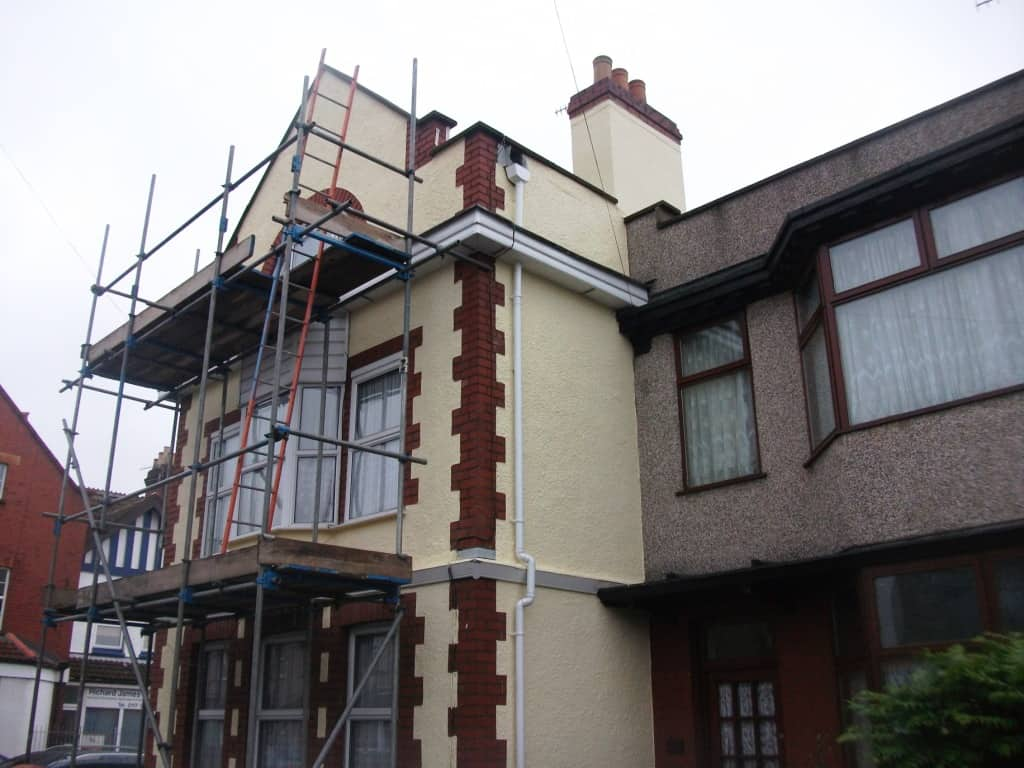We had to be careful of the neighbours house so paint did not go next door