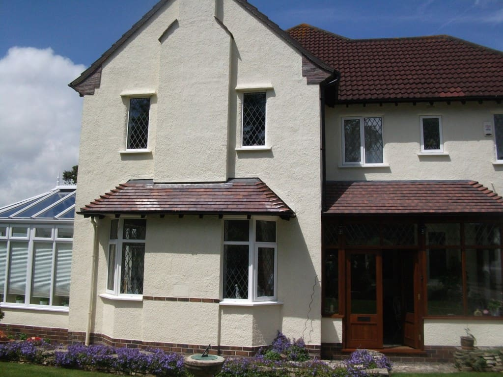 A house in Chester with a brand new exterior wall coating on the walls