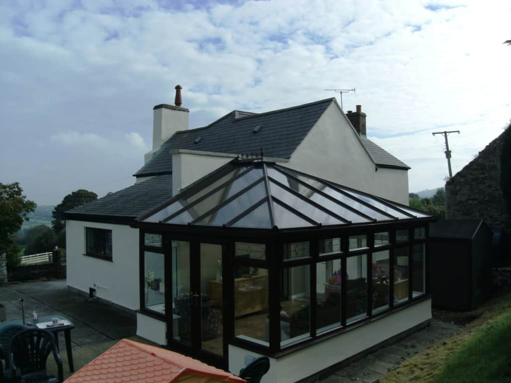 Large house in Wales with new render and paint