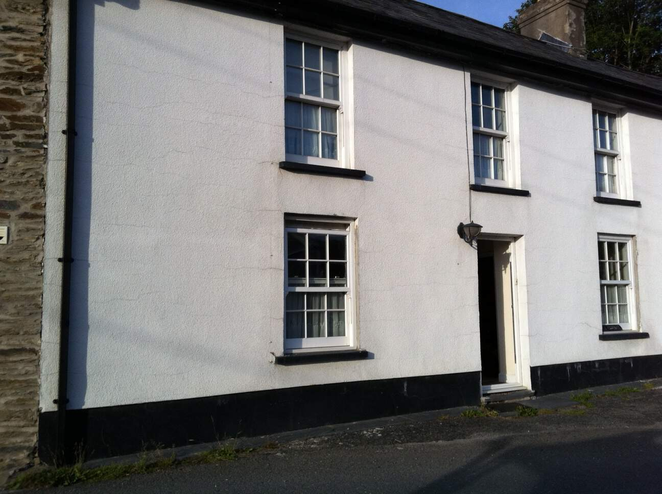 A house in wales before applying external wall coatings