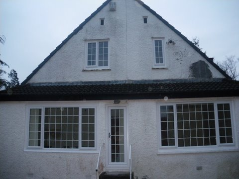Rear of property in Scotland needing a new paint job