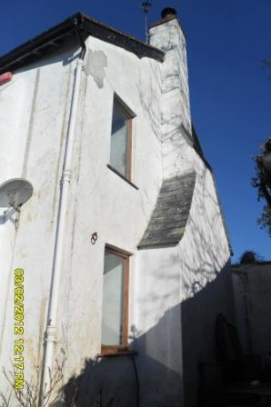 The mouldy side walls before repair