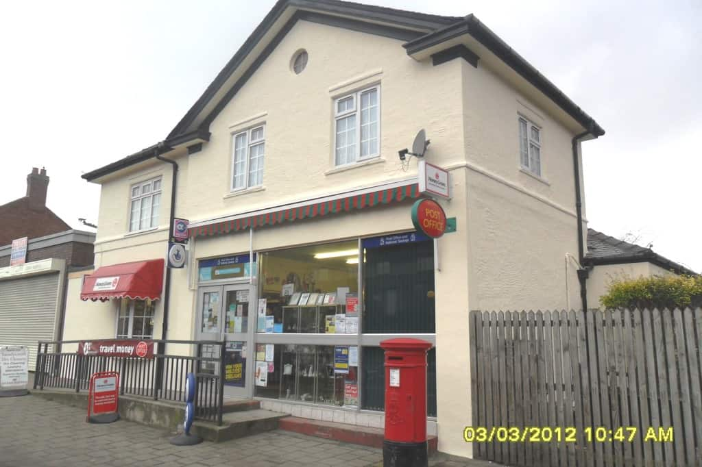 A high street post office in Cheshire