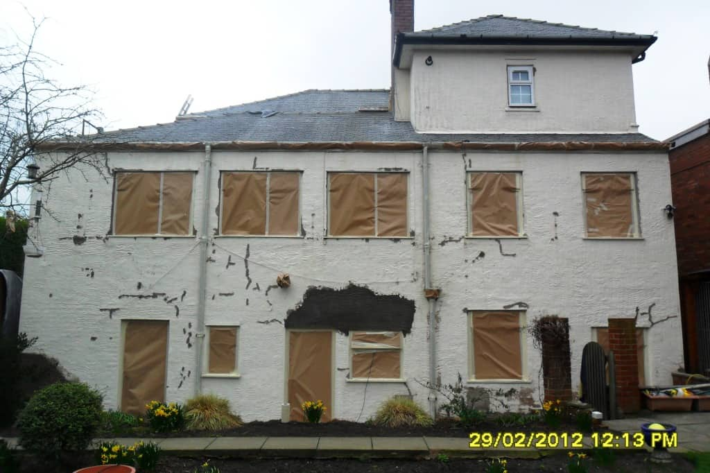 Rear of post office after render repairs