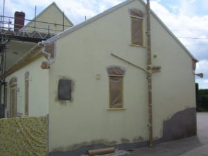 Rendering to corner of house in dorset