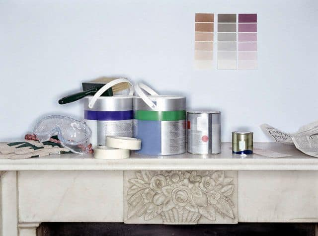 Tins of paint whilst decorating