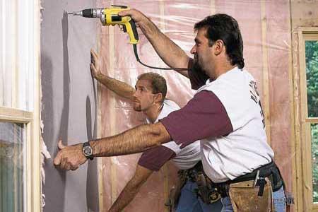 Fitting drywall