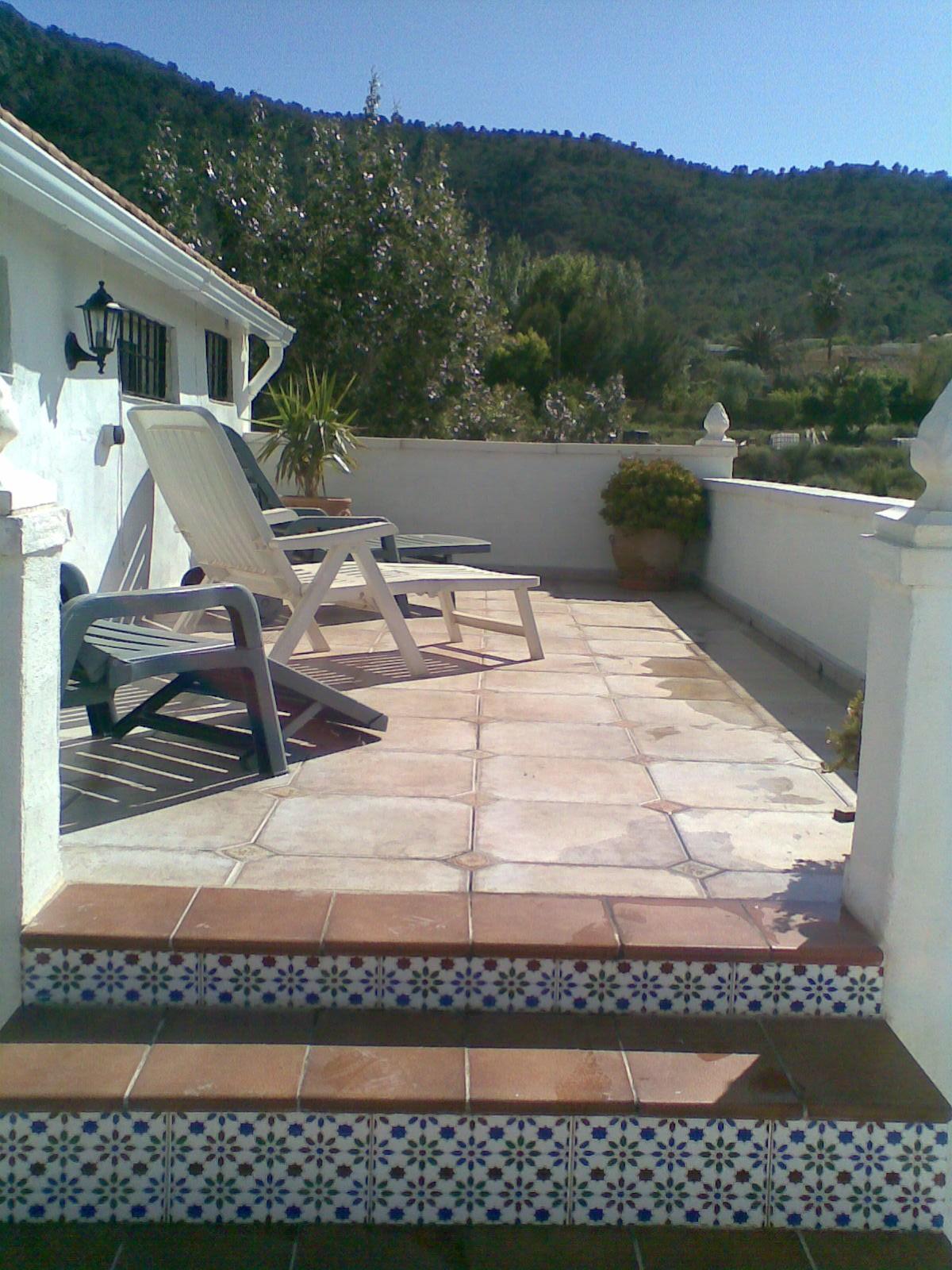 A roof terrace in Alicante spain