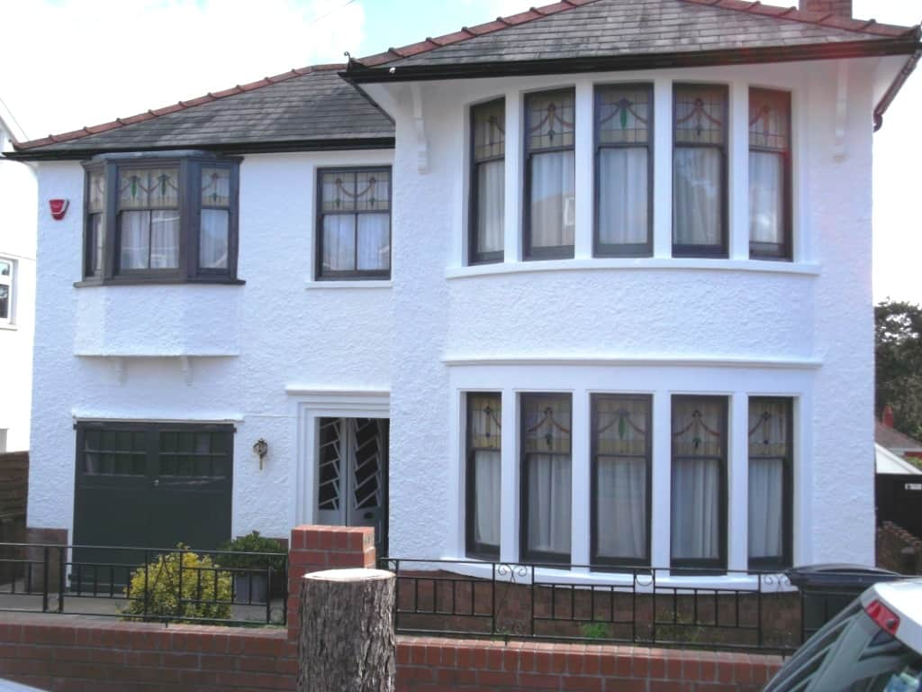 Period property cardiff painted with exterior wall for Exterior home painting