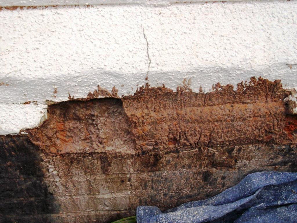 failed spray coating and damp bricks