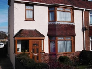 front of brighton house completed External house painting costs