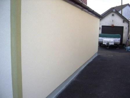 house is painted with an exterior wall coating