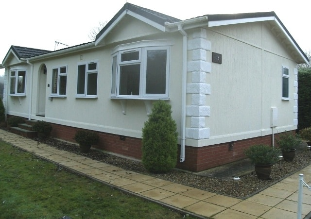 A park home after wall coating
