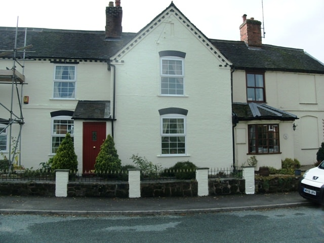 A house in stoke on trent with textured coatings