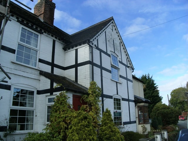 Front of house in Stoke before painting