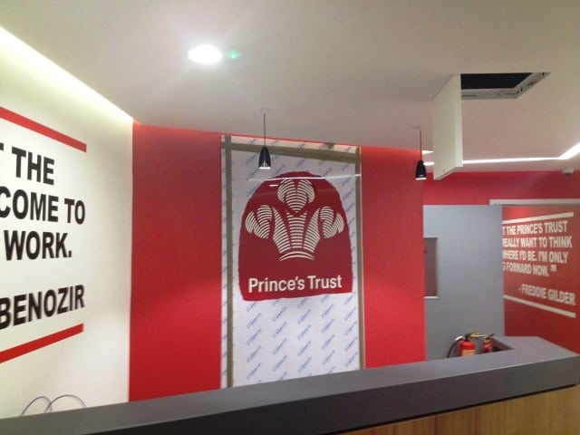 decorating work for the Princes trust