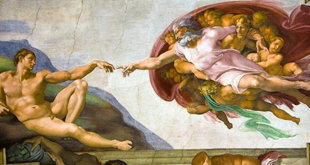 Fresco by Michelangelo