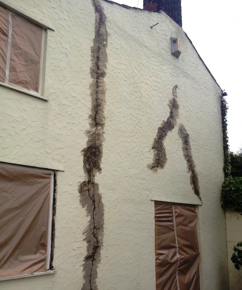 Severe cracks on house walls
